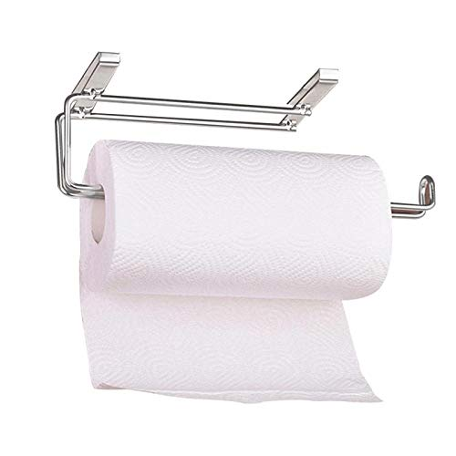 STAR-FIVE-STORE - Kitchen Paper Holder Hanger Tissue Roll Towel Rack Bathroom Toilet Sink Door Hanging Organizer Storage Hook Holder Rack LKM9995 by STAR★FIVE★STORE