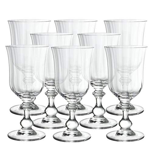 Mikasa Crystal Bowls - Mikasa French Countryside Goblets, Set of 8