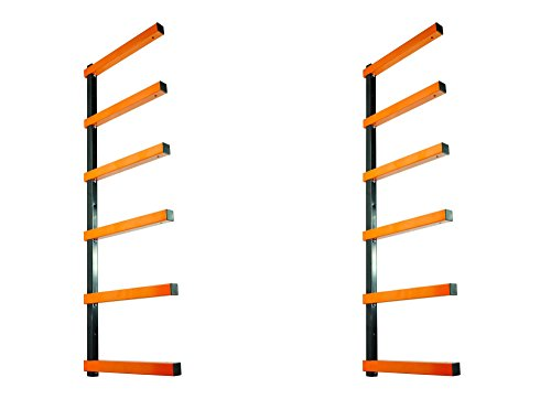 KASTFORCE KF1001 Lumber Storage Rack 6-Level System 110 lbs per Level with Material Stop Holes and Durable Sheet Metal Screws, Wood Rack, Workshop Rack ()