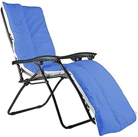 1 Pack Royal Blue Lancashire Bedding Sun Lounger Cushion Topper Only