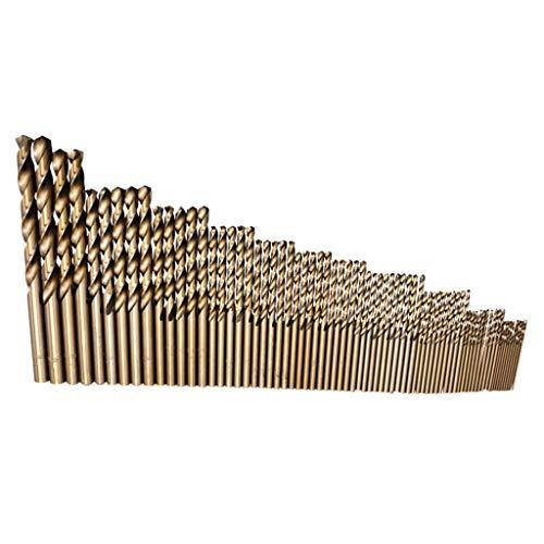 Fan-Ling 74Pcs Spiral Drills,High Speed Steel Straight Shank Twist Drill Bits,1-8mm Drill Bit Set, Cobalt Drill Bit HSS-Co Steel Straight Shank,Multiple size options ()