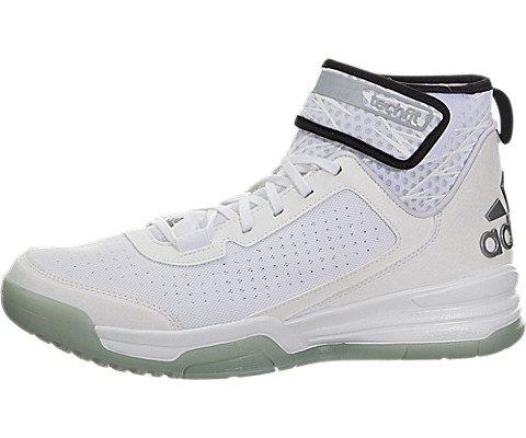 check out ed67d 25cda Galleon - Adidas Mens Dual Threat BB Basketball Shoes (9 D(M) US, White BlackWhite)