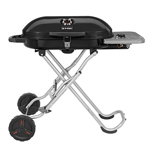 STOK Gridiron 348 sq. in. Single Burner Portable Propane Gas Grill in Black with Insert Compatibility