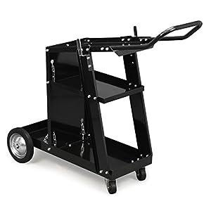 XtremepowerUS HD Welding Cart Universal MIG MAG ARC TIG Machine Welders Home Garage Shop + Safety Chain from XtremepowerUS
