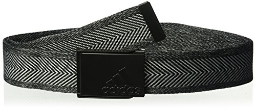 Adidas Webbing Belt - adidas Golf Heather Webbing Belt, Black/Grey Heather, One Size