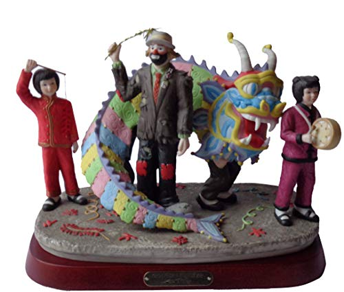 Clown Figurines - Chinese New Year's, Full-Size Collectible, Porcelain Sculpture by Emmett -