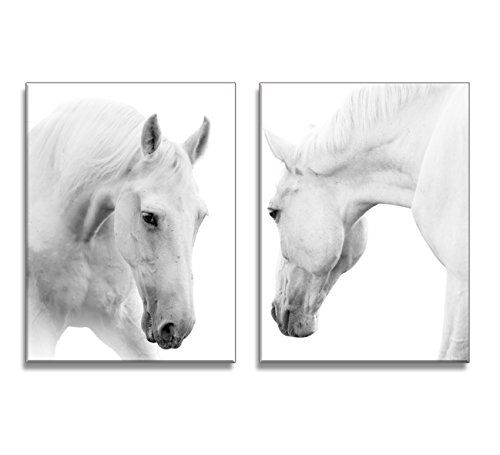 youkuart qy0088 canvas wall art white Horses Picture Paintin