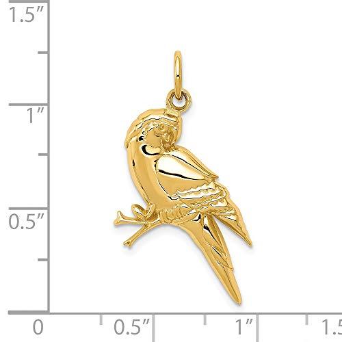 14k Yellow Gold Parrot Charm by DiamondJewelryNY (Image #2)