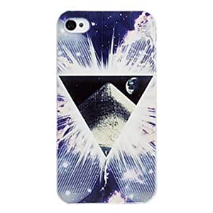 TOPQQ Luminous Triangle Universe Pattern Glows In The Dark PC Hard Case for iPhone 5/5S