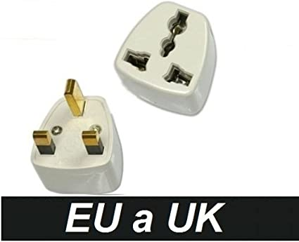 Adaptador Corriente Enchufe España Europa Europeo Europe a UK Irlanda Inglaterra Ireland United Kingdom England: Amazon.es: Electrónica