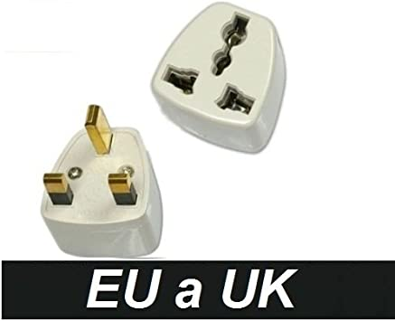 Adaptador Corriente Enchufe España Europa Europeo Europe a UK Irlanda Inglaterra Ireland United Kingdom England: Amazon.es: Electrónica