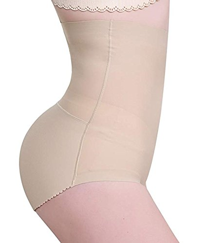 JITIFI Women Body Shaper High Waist Tummy Control Butt Lifter Seamless Hip Panty Nude -