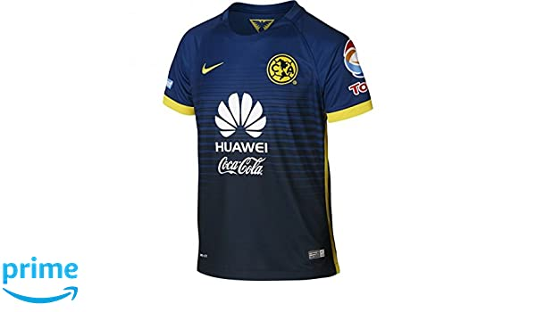 2834a65ad Amazon.com   Nike Youth Club America 15 16 Away Gym Blue Armory Navy Tour  Yellow Jersey - XS   Clothing