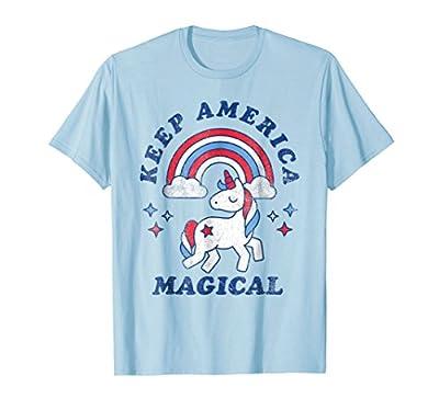 Keep America Magical Unicorn Shirt - 4th of July T-Shirt