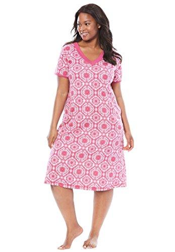 Dreams & Co. Women's Plus Size Short V-Neck Lounger