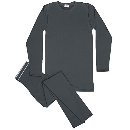 Rocky Men's Thermal Fleece Lined Long John Underwear 2pc Set (Medium, - The How In To Snow Run
