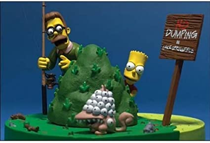 Amazon Com The Simpsons Movie Bart And Ned Flanders What Are You Looking At By Unknown Toys Games