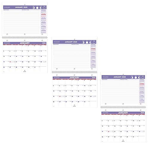 AT-A-GLANCE 2020 Desk Calendar, Desk Pad, 8-1/2'' x 11'', Small, Wirebound (Pack of 3) (3) by AT-A-GLANCE