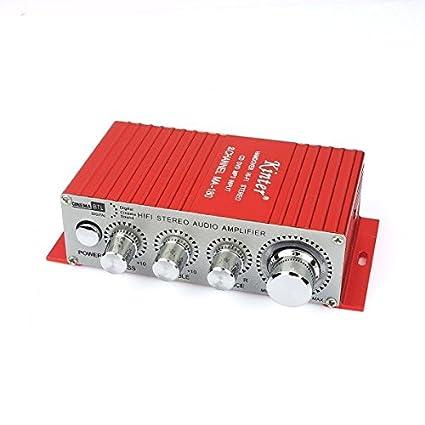 MA180 Kinter 2 Channel 12V DC Amplificador Audio Estéreo Altavoz Para Autos Coches Motos Barco
