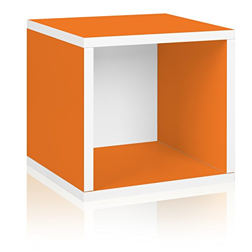 Way Basics Eco Stackable Storage Cube and Cubby Organizer, Orange (made from sustainable non-toxic zBoard (Cubby Organizer)