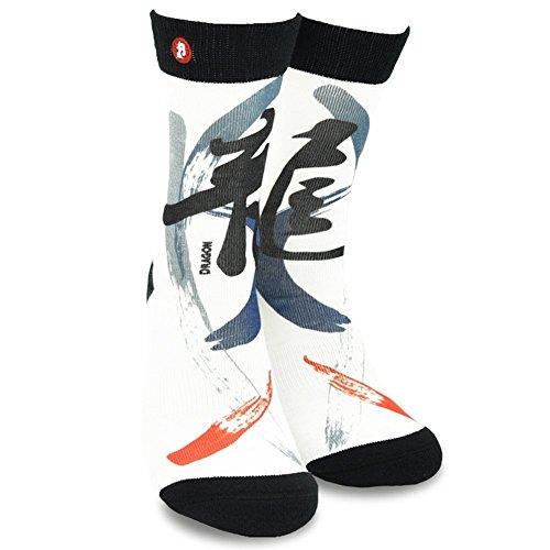 Fat-head's Day Men/Women Luxury Unique Design Fashion Orient Cutural Novelty Crew Socks - Dragon