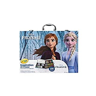 Crayola Frozen 2 Inspiration Art Case, 100 Art & Coloring Supplies, Gift for Age 5, 6, 7, Multicolor