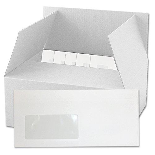 1000 Briefumschläge Din lang 22x11cm mit Fenster weiß selbsklebend mit Innendruck Umschlag Marke Versando Umschläge sk holzfrei