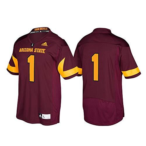 (adidas NCAA Arizona State Sun Devils Adult Men Premier Football Jersey, Large, Maroon)
