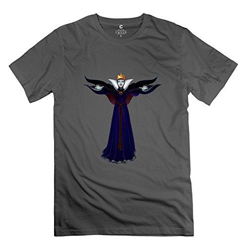 Diamond Queen Beauty Maleficent 100% Cotton T-shirt For Man DeepHeather XXL Design Tee Shirt (Make Maleficent Horns)