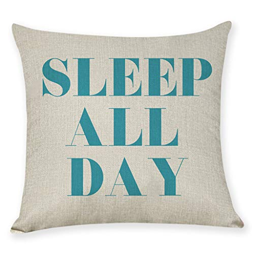 Littay Home Cushion Cover Dance All Night Sleep All Day Throw Pillowcase Pillow Covers 17.72