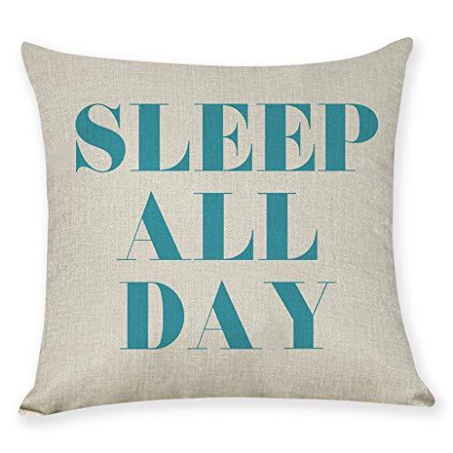 Littay Home Cushion Cover Dance All Night Sleep All Day Throw Pillowcase Pillow Covers -