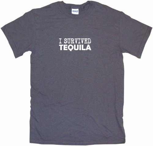 Mezcal Reposado - I Survived Tequila Men's Tee Shirt 6XL-Charcoal