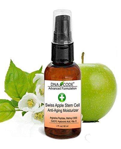 DNA Code- Swiss Apple Stem Cell moisturizer w/ Argireline, Matrixyl 3000, Hyaluronic Acid, CoQ10 (Best Swiss Skin Care Products)