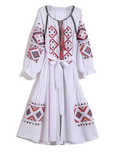 Ceinture Mode De Femme Cardigan Broderie Robe White Automne YLCRMBJ Style De Noir YAcqZZR