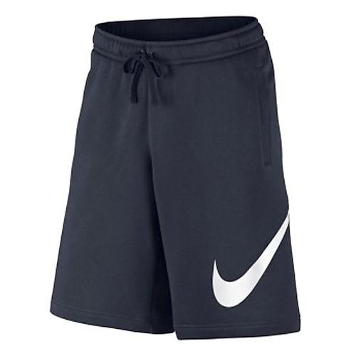 Price comparison product image Men's Nike Sportswear Club Athletic Short,  Classic Comfort Shorts for Men with Elastic Waistband and Pockets,  Obsidian / White,  M