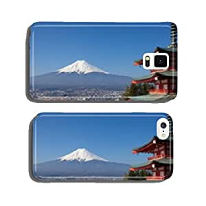 view of mountain fuji from chureito pagoda cell phone cover case Samsung S6