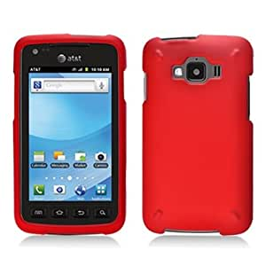 For AT&T Samsung Rugby Smart i847 Accessory - Red Hard Case Protective Cover + Lf Stylus Pen