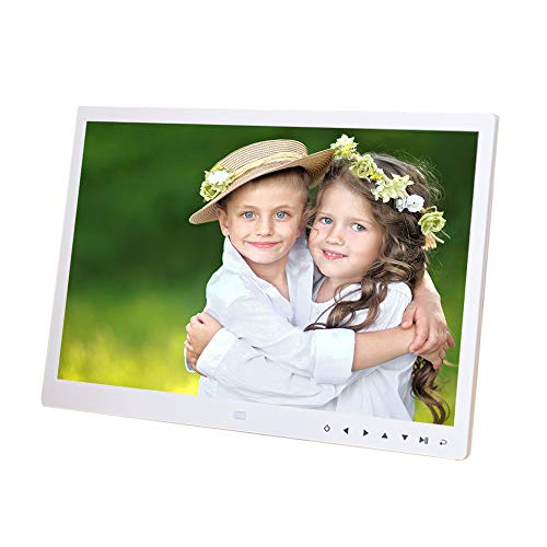 CEspace 15 inch Widescreen Digital Photo Frame Modern Design HD 1200 X 800 Pixels High Resolution Motion Sensor Multimedia Playback Digital Album Memory by SD Card (Max Support 32GB, not Included)