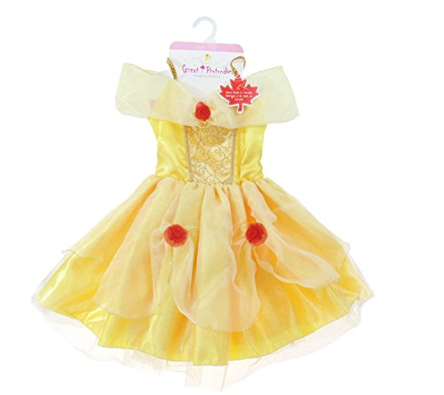 Creative Education Great Pretenders Belle Tea Party Dress, Yellow, Size 5-6 by Creative Education
