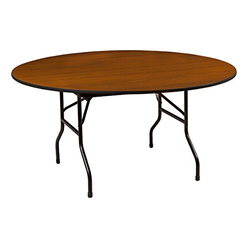 Norwood Commercial Furniture Round High-Pressure Lamiante Top Folding Training Table, ()