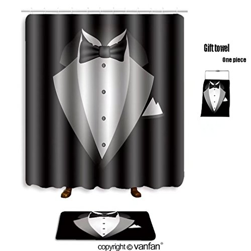 vanfan bath sets with Polyester rugs and shower curtain illustration on