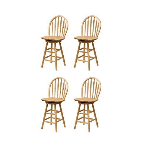(Winsome Wood 24-Inch Windsor Swivel Seat Bar Stool (Natural, 24-Inch Set of 4))