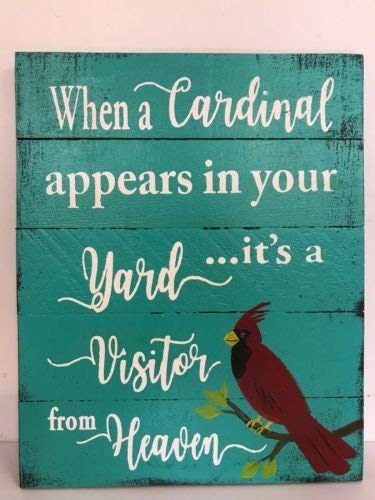 Amazon com: Emily When Cardinal Appears in Yard Visitor from