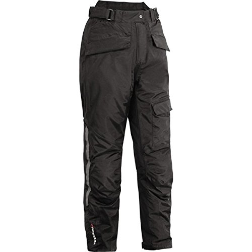 FirstGear HT Overpants Women's Textile Sports Bike Motorcycle Pants - Black / Size 18