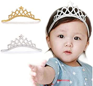 Yichener Corona de cumpleaños Fiesta bebé niña Diadema Accesorios de ...