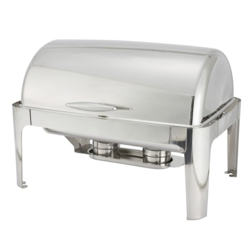 Madison Chafer 601 - 8 qt Full Size Stainless Steel Roll Top Cover Winco, SET OF 6