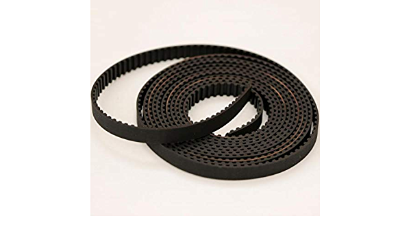 Fevas Timing Belts GT2 3mm 5mm 6mm 7mm 9mm 10mm Rubber with Fiberglass Metric Trapezoid Open Ended Belt 3D Printer Width: 10mm, Length: 10M