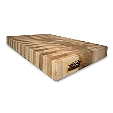 Top Chop Butcher Block PGM-16182 Premium Reversible End Grain Character Grade Cutting Board, Maple
