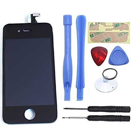 Mimi® Touchscreen Replacement for Black Apple iPhone 4 GSM AT&T Model A1332 Touch Screen Digitizer and LCD Display Assembly + Tool Kit