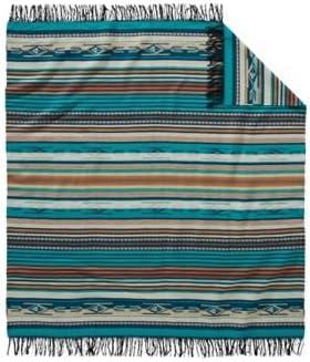 Chimayo Stripe Cotton Blanket by Pendleton